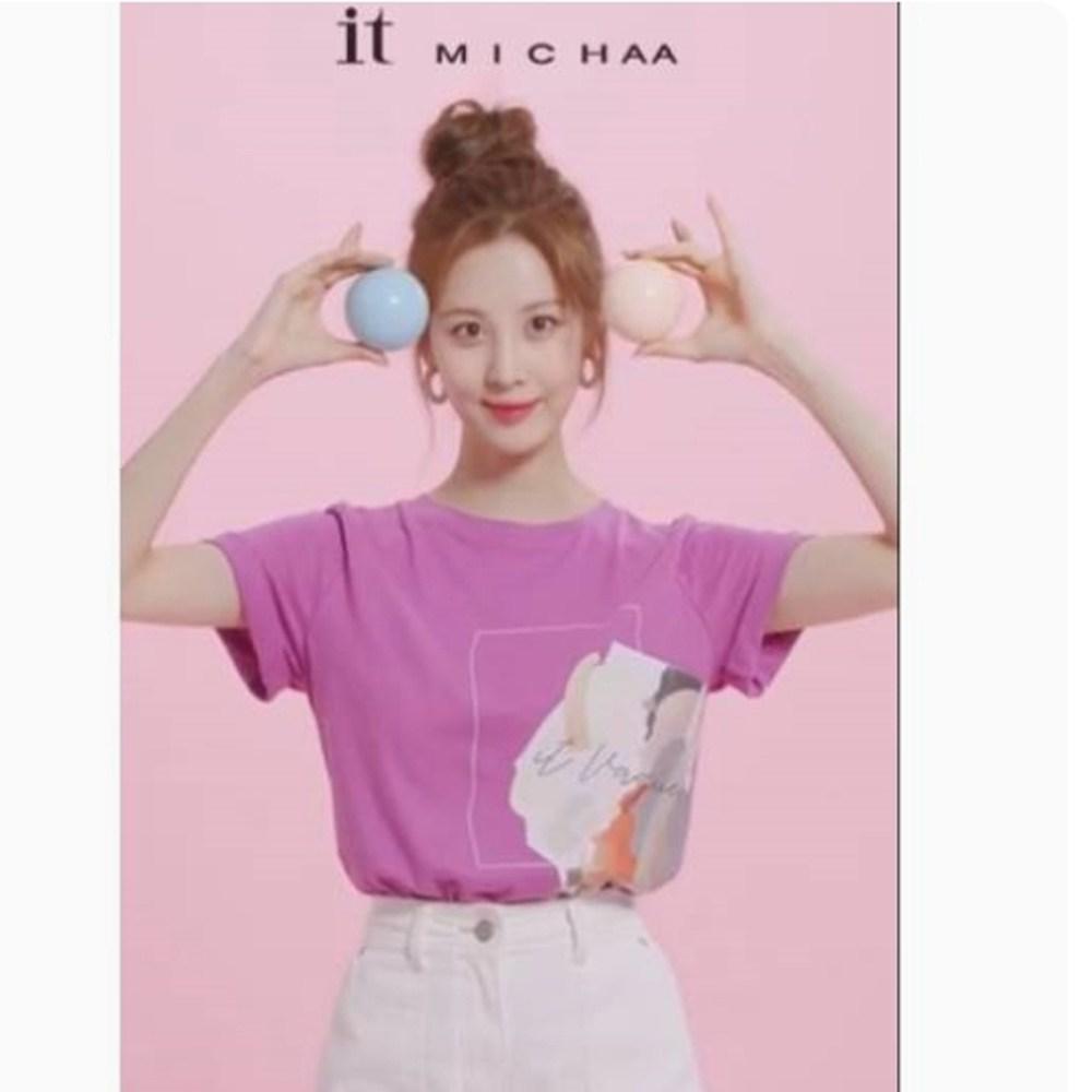 잇미샤 그래픽 프린트 티셔츠 ITK7WTS100 반팔