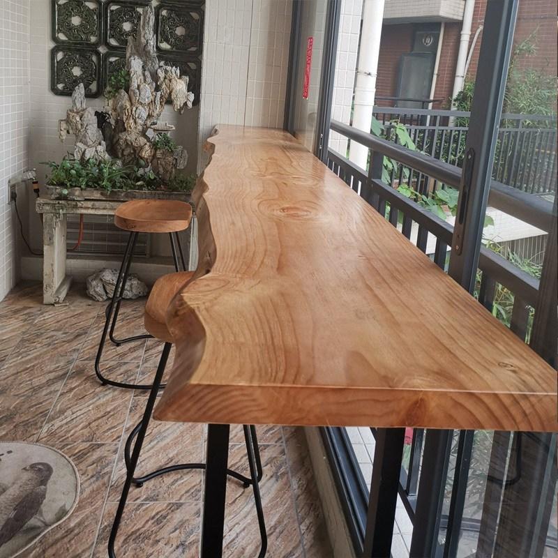 창가테이블 원목 아일렌드 좁고긴 테이블, 100