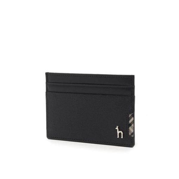 [갤러리아] 헤지스 ACC[HAZZYS] 블랙 퍼피 장식 체크배색 카드지갑 -HJHO0E286BK