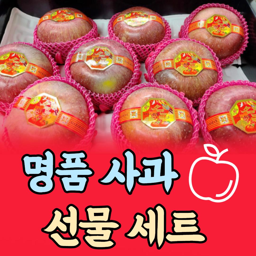 명품 꿀 사과 명절 선물 세트 선물용 과일, 사과 선물 세트 4.5kg 내외