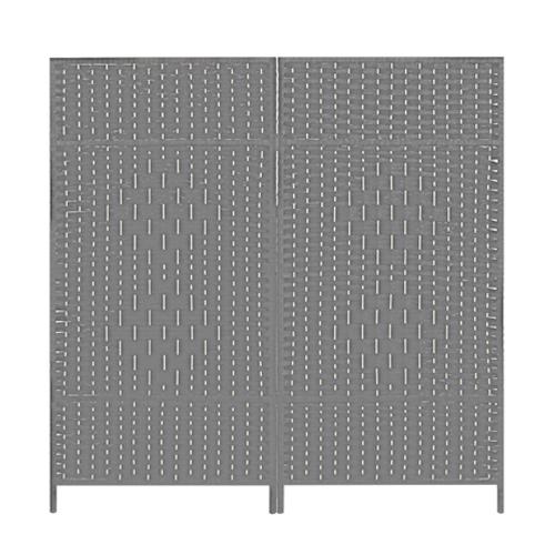 에코팩토리 인테리어 파티션 핸드메이드 라탄 칸막이 공간분리, [F-중형]120x120cm라탄홀:그레이