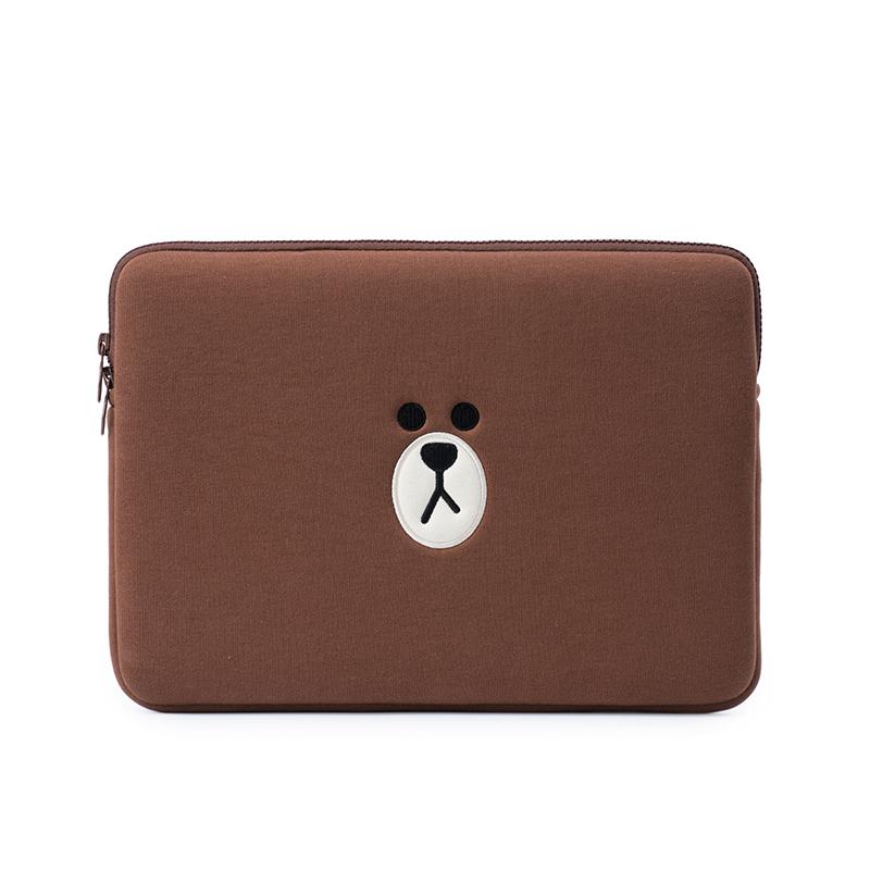 라인프렌즈 캐릭터 노트북 파우치 케이스 맥북 아이패드 LG그램, pro11 인치 브라운