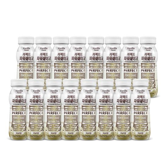 칼로바이 퍼펙트파워쉐이크 27.5g 헬스 단백질보충제 프로틴음료 바닐라 16개입, 2set, 275ml