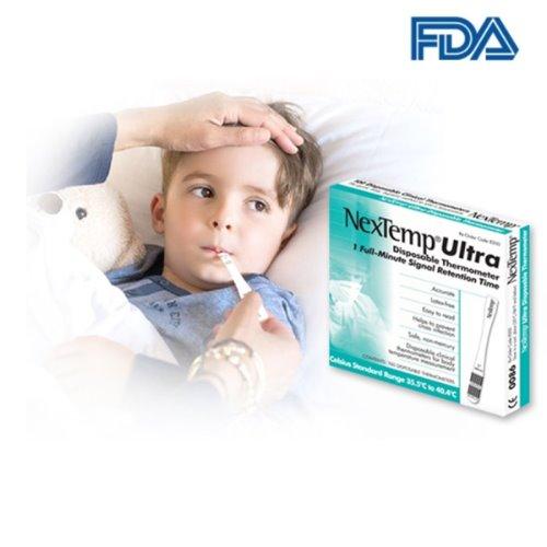 NEXTEMP 일회용 체온계 접촉식 유아용 아기 온도계 체온기 온도기 구강 코스트코 FDA 미국 병원 약국, 100개
