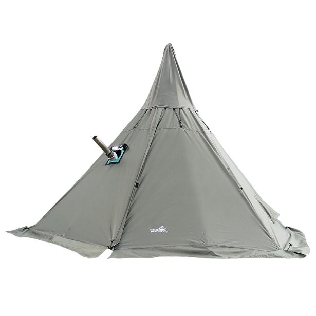해외직구 동계 캠핑 화목난로용 피라미드 티피 텐트, 대형, 화이트