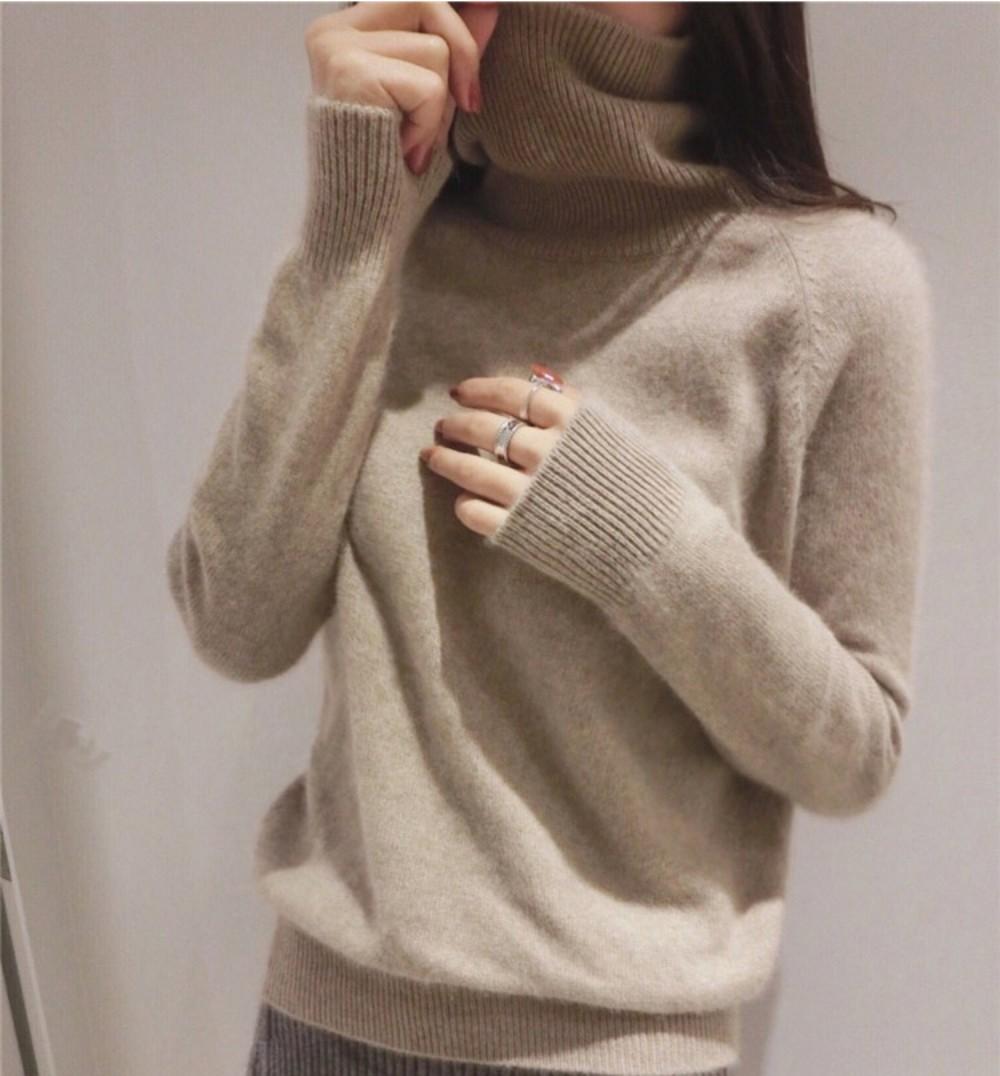 라쿤 터틀넥니트 여성 겨울 스웨터 터틀넥