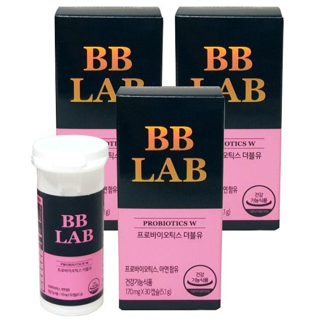 뉴트리원 전지현 프로바이오틱스 W 여성 질 유산균, 3박스, 30캡슐