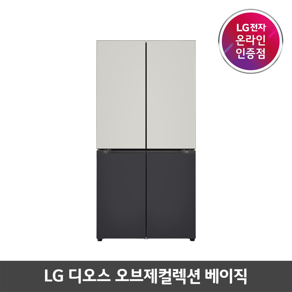 LG 디오스 베이직 오브제컬렉션 870L 4도어 냉장고 M871MGB043S (POP 5590886242)