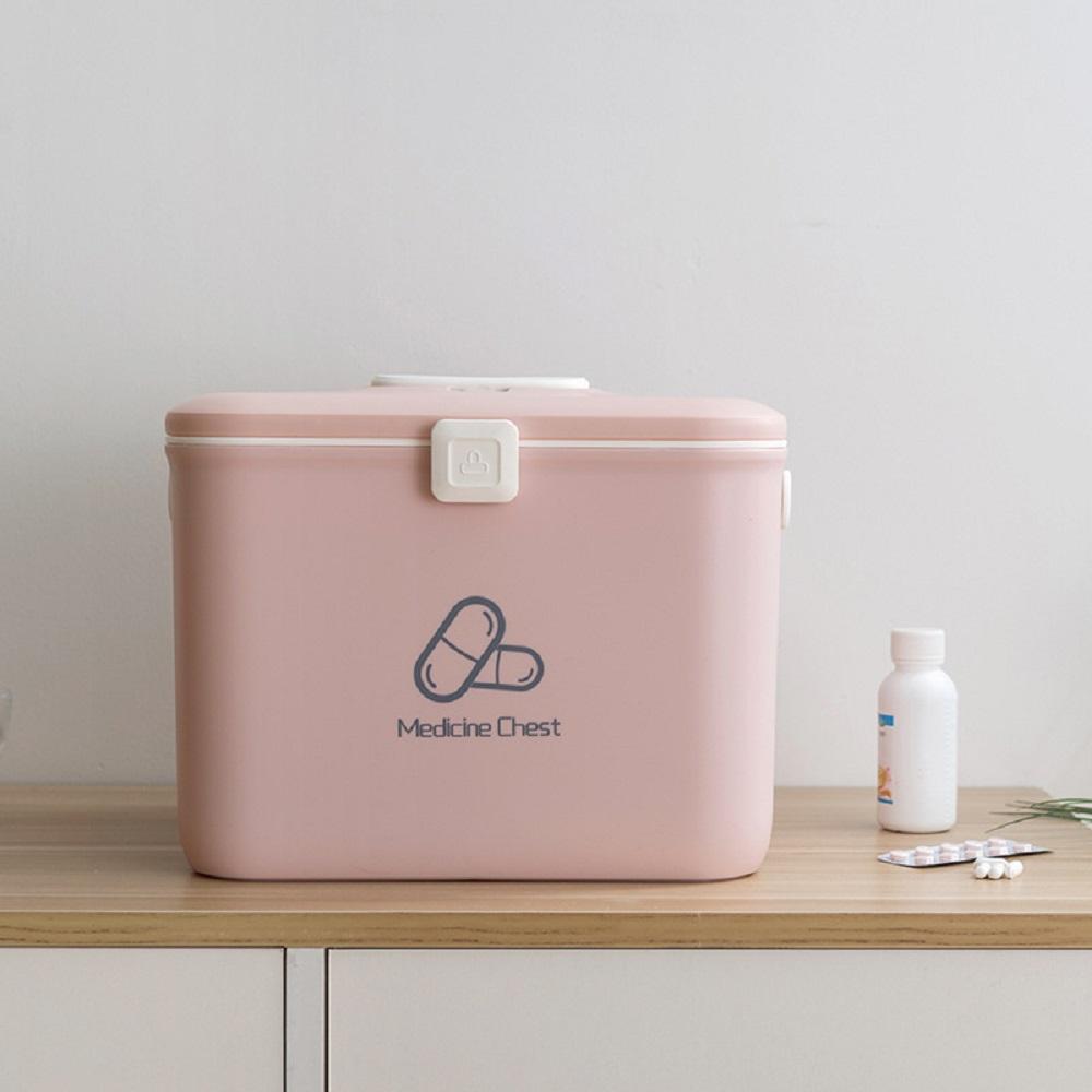 휘릭 구급함 다이소 약통 구급상자 가정 상비약 비상약 휴대용약통, 핑크 (POP 4667380406)