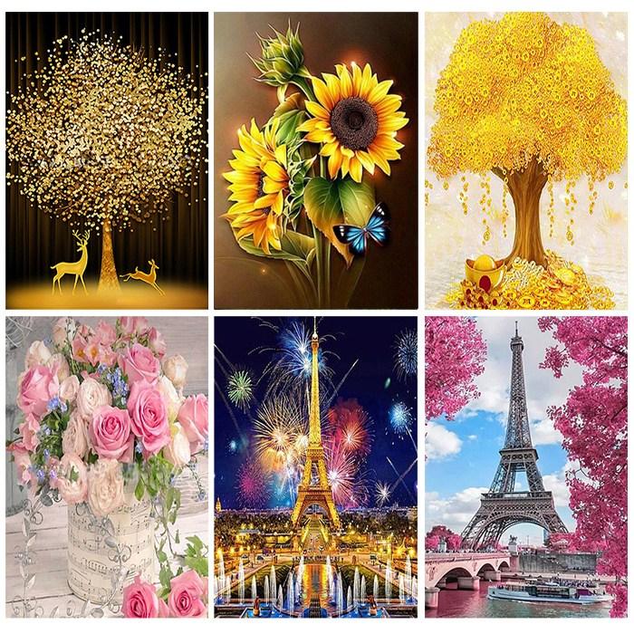 세진 120가지 이상그림 색표현이 풍부한 제품 비즈 보석 십자수, 38 매직캐슬 33x44 세로형