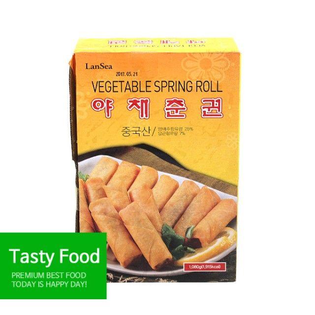 (음식만들기 가정간편식 초간단요리 반조리식품) (냉동)랜시식품 야채춘권1080g(W725701), 오버레이 1