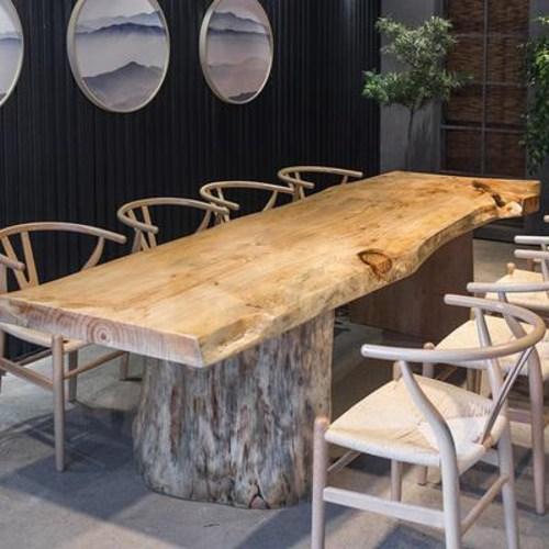 레트로 북유럽하우스 원목 우드슬랩 맞춤 제작하다 다대 통판 자연변 대판 테이블 식탁사, 01 160x70x75cm, 01 원목색, 01 5cm