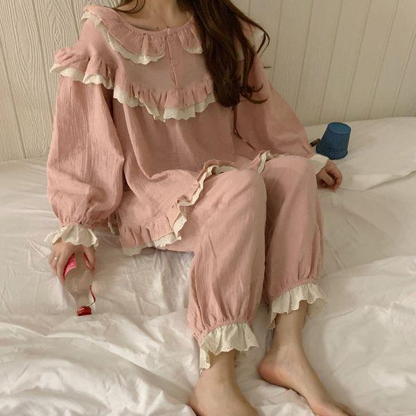 안나리야 레이스 프릴 투피스 예쁜 공주 잠옷 YJ