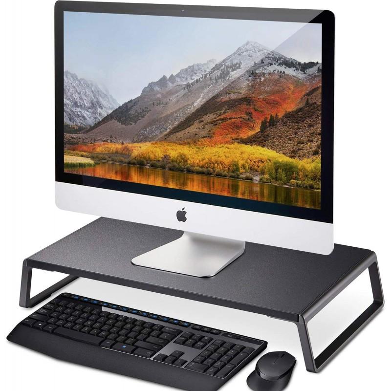 상기TEK Laptop iMac TV LCD 디스플레이 프린터용 메탈 피트가 장착된 모니터 스탠드 라이저 데스크 오가니저가 장착된 컴퓨, 단일옵션