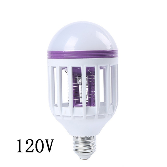 E26 / 27120 볼트 / 230 볼트 UV LED 전구 15 와트 모기 킬러 램프 2 1 모기 트랩 곤충 킬러 전구 플라이, 01 China, 01 120 V