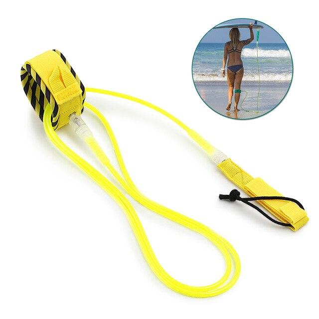 셀프 서핑보드 패들보드 끈 리쉬코드 분실방지 코일, 옐로우