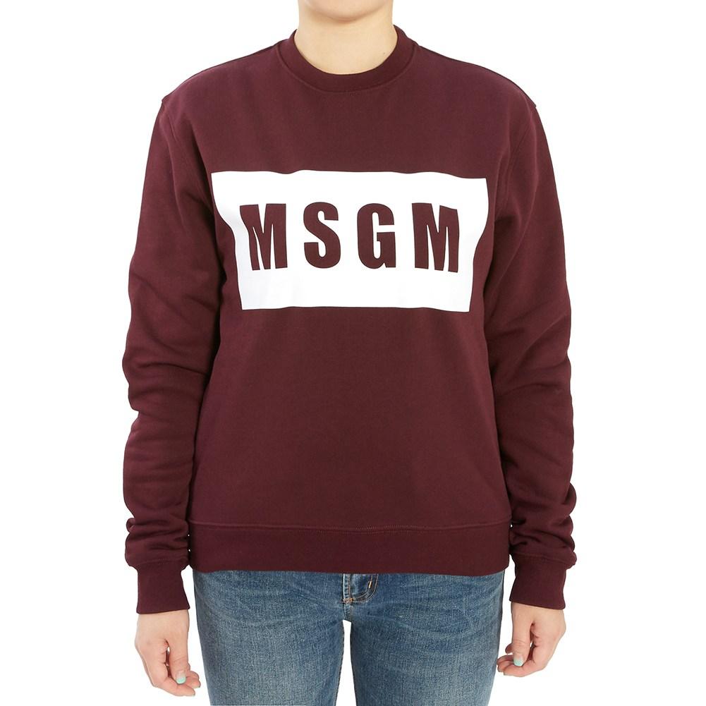 엠에스지엠 로고 2741MDM96 195799 20 여자 긴팔 기모 맨투맨 티셔츠