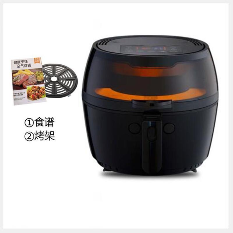 Deguo Jiudun 대용량 에어 프라이어 전기 자동 프라이 기계, 9 리터 8 리터 시각 자동 회전 블랙