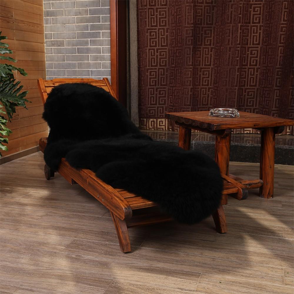 안마의자 리클라이너 울 커버 러그 카펫 시트 담요 쿠션 고급 인테리어, 블랙 (POP 5295627795)