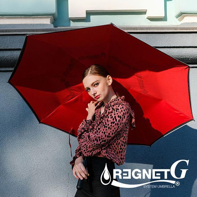 레그넷 G. 친 환경 빅사이즈 자동 접힘 거꾸로 우산