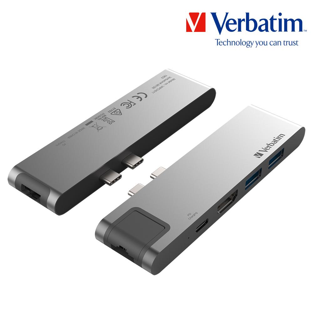 버바팀 7 in 1 C타입 고속 충전 허브 HDMI 이더넷 맥북, 버바팀 7in1 66195