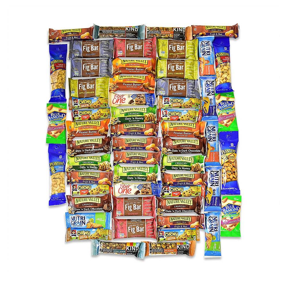 Blue Ribbon Healthy Snacks and Bars Variety 블루 리본 건강한 스넥 앤 바 버라이어티 팩 5.3LB 56개입, 1개
