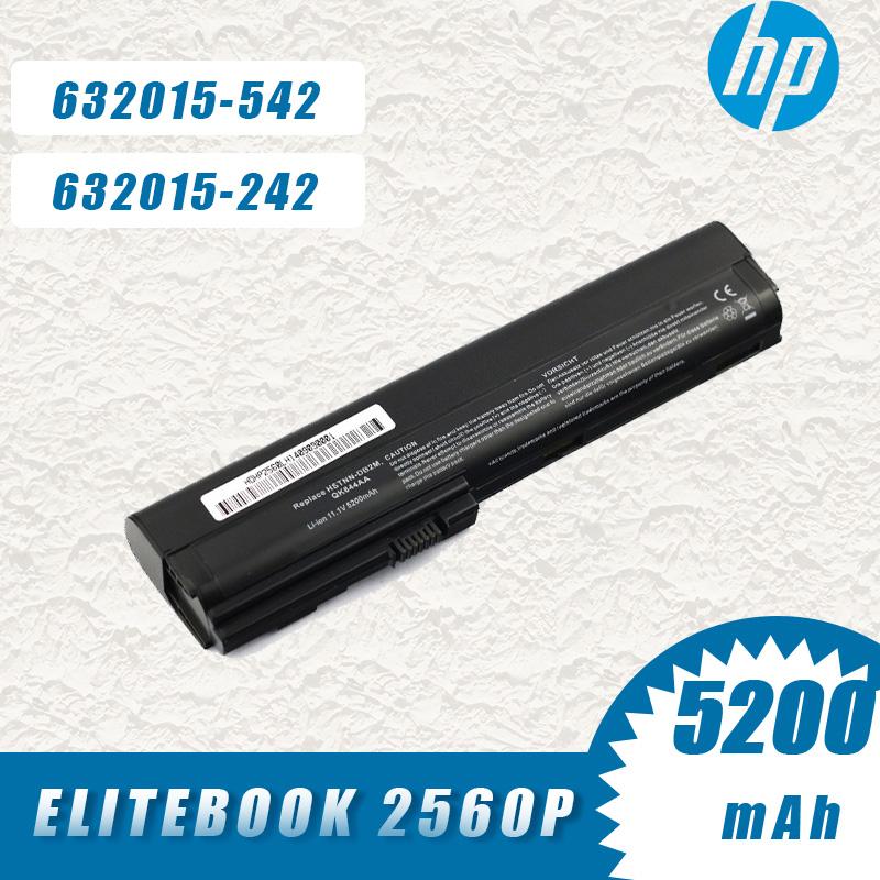 HP 2560P 2760p QK645AA SX06XL 632016-222 632016-241 632016-242 배터리