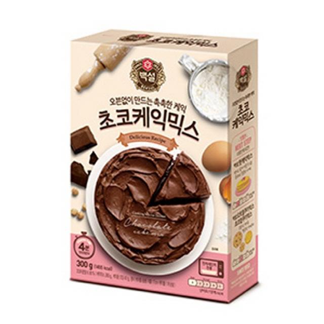 81 Js media works / 백설 간편한 초코 케익믹스 300g 10개입 1박스 케이크만들기 케이크배달 파리바게트케이크 케이크, 단일 수량