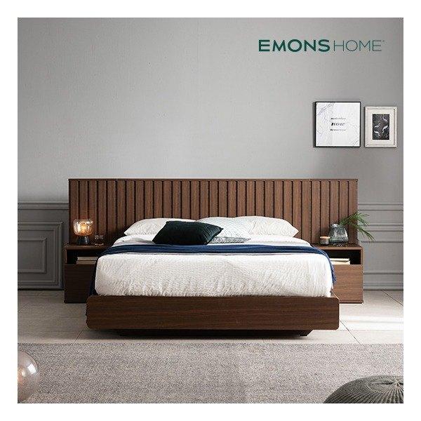 [에몬스홈] 밀레 호텔 평상형 침대 Q (하이유로탑매트/협탁포함)