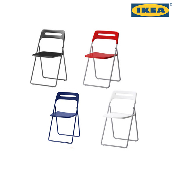 IKEA NISSE 접이식의자, 블랙