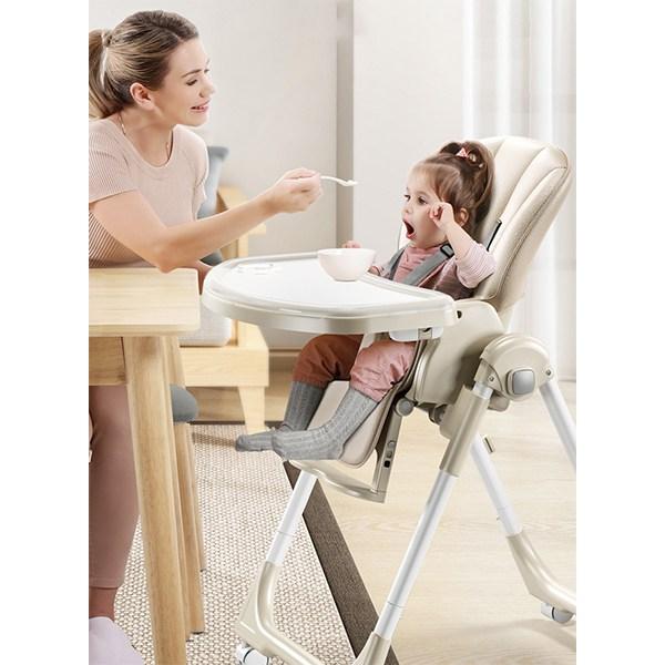 MOLY 유아동 접이식 다기능 식탁의자 J1517 유아식탁의자, 블루