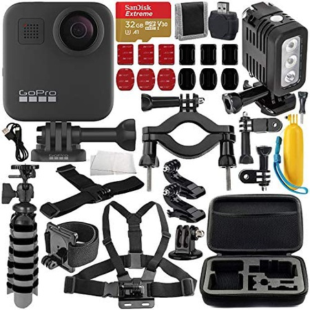 GoPro MAX 360 Action Camera with Deluxe Accessory Bundle Includes: SanDisk Extreme 32GB microSDHC, 상세 설명 참조0