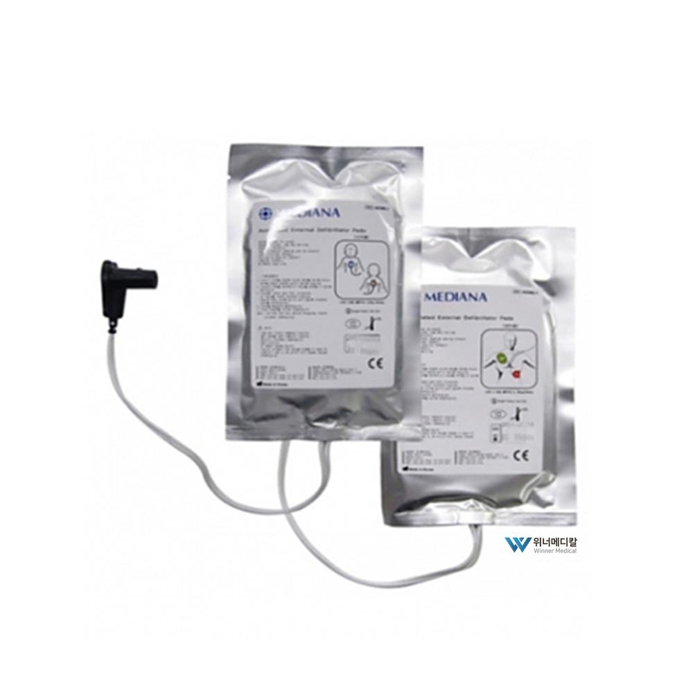 메디아나 현장용 자동제세동기 패드(HeartOn A10)심장충격기패드 AED패드, 1개