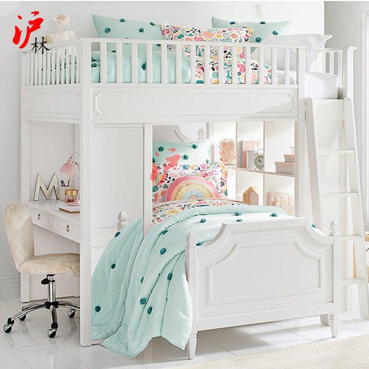 벙커침대 성인 어린이 이케아 다기능 어린이 침대 높고 낮은 침대 단단한 나무 이층 침대 책상 옷장 콤비 침대 아들과 어머니 양육 침대, 다른, 로프트 침대 + 책상, 더 많은 조합