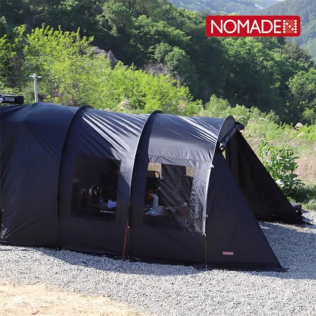 [Nomade21 노마드21] 차박텐트-블랙/터널형 차박텐트 RV SUV 차량에 연결 오토캠핑 야외 아웃도어활동, ONE