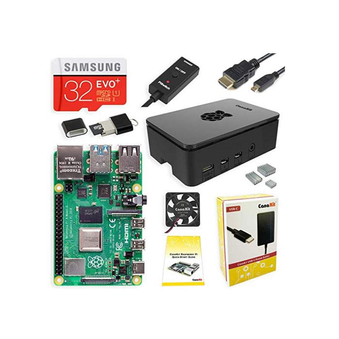 CanaKit 카나키트 라즈베리 파이4 스타터 키트 4GB RAM, 단일상품