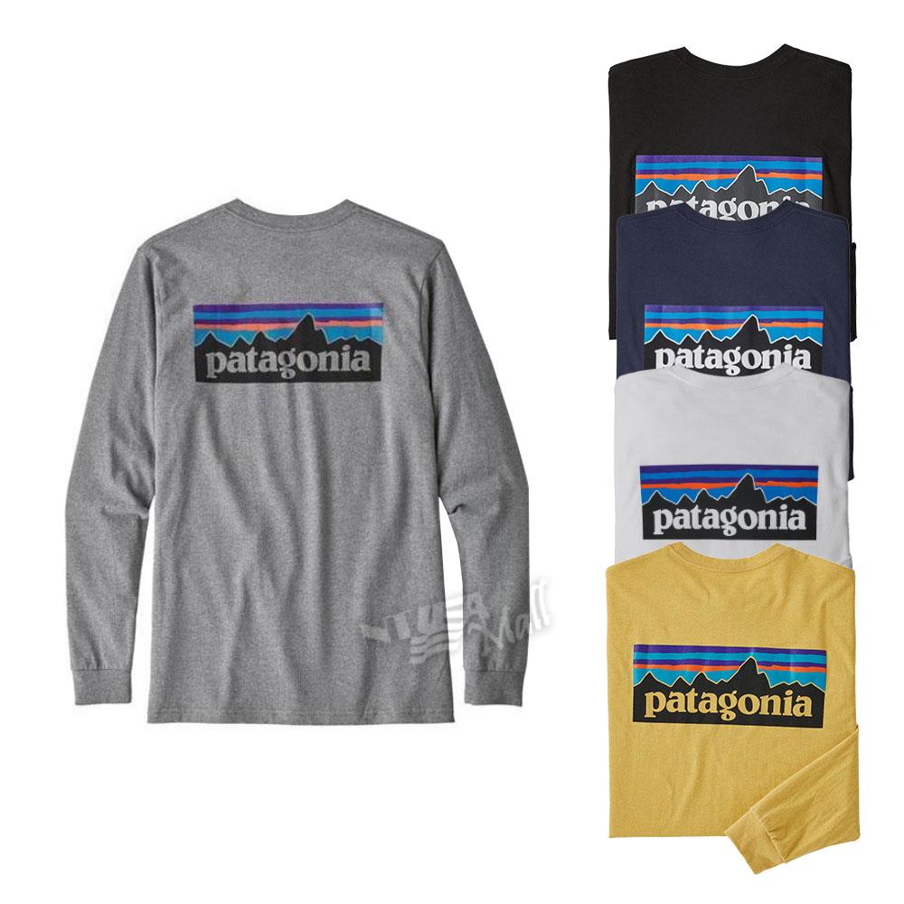 파타고니아 P-6 남성 로고 긴팔 티셔츠 PATAGONIA M
