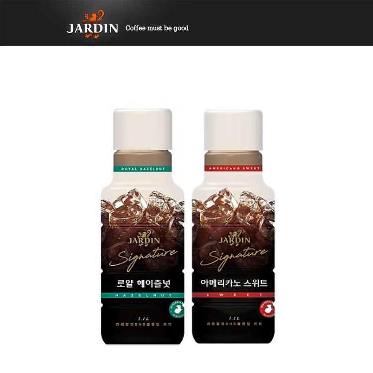 쟈뎅 아메리카노 로얄 헤이즐넛 1.1L + 스위트, 1세트, 2200ml-12-249352346