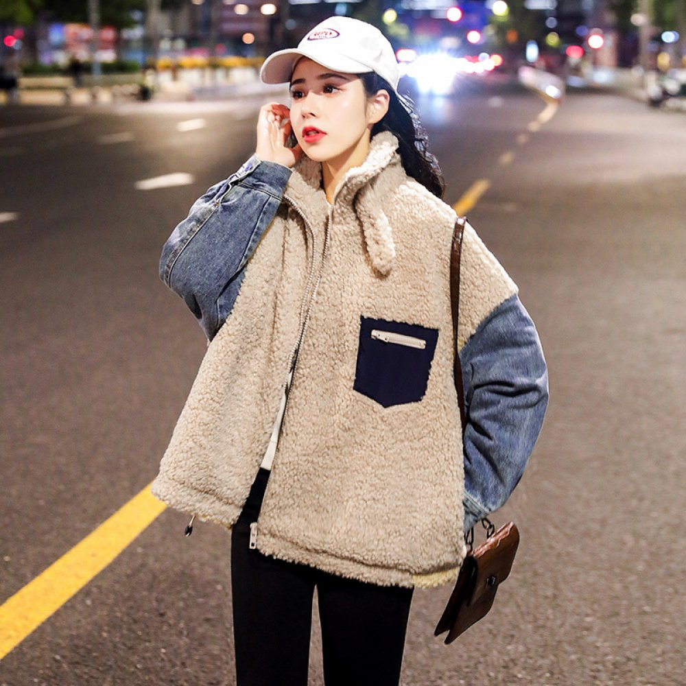 여성 양털후리스 자켓 뽀글이 집업