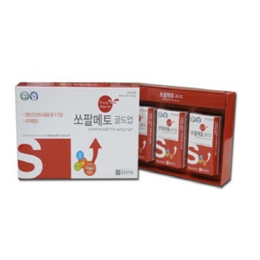 종근당건강 쏘팔매토 전립선건강 로르산 전립소 지구력 옥타코사놀 아연 망간 50대아빠생일선물, 1box