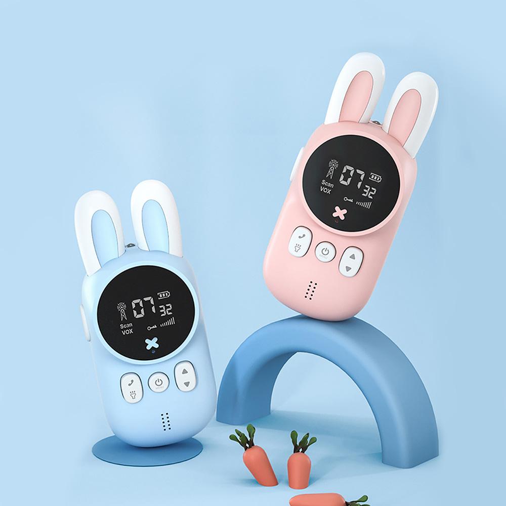 KOOOL 미니 토끼 무전기 세트/ 배터리 미포함, 블루+핑크