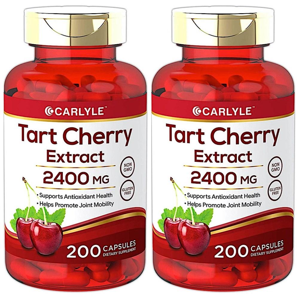 Carlyle Tart Cherry Capsules 2400mg 칼라일 타트 체리 추출 200정 2팩, 2개, 200