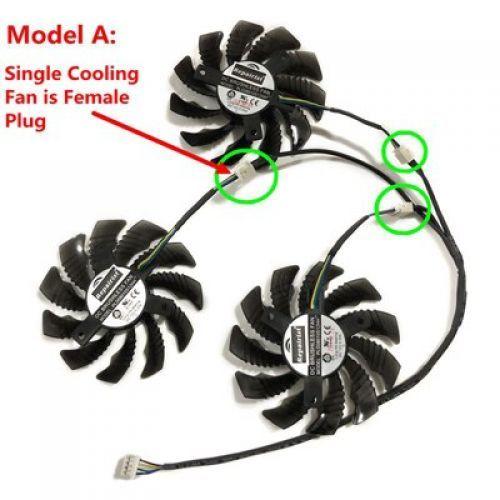 [해외] PLD08010S12HH GTX 1070Ti 1080Ti GPU VGA 그래픽 카드 팬 GTX1070Ti GTX1080Ti GTX1080 비디오 카드 냉각, MODEL A