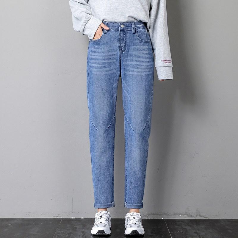 나래쇼핑몰 스트레이트진 청바지 여성 스트레이트핏 일자 와이드 루즈핏 하이웨스트 가을옷 슬림핏 여자 바지 배기 무배기관 카고