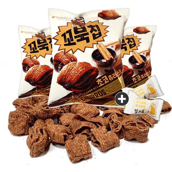 주전부리몰 오리온 꼬북칩 초코츄러스맛(136g) x 3봉(밀크츄 2봉포함), 1세트