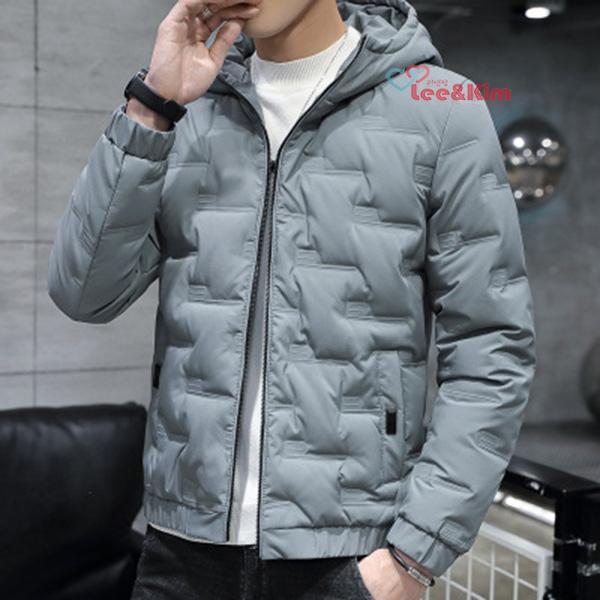 리앤킴 겨울 남성 오리털 후드 경량패딩 자켓 MA1506