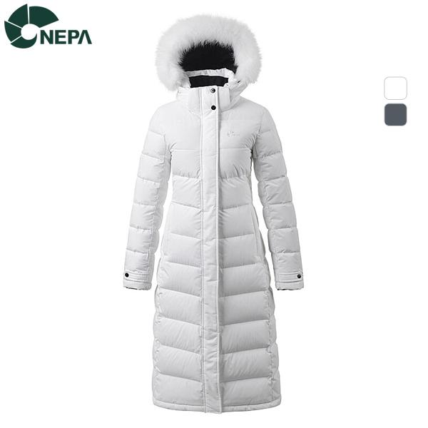 NEPA 네파 여성 폭스 퍼 롱 다운 자켓 7E82091