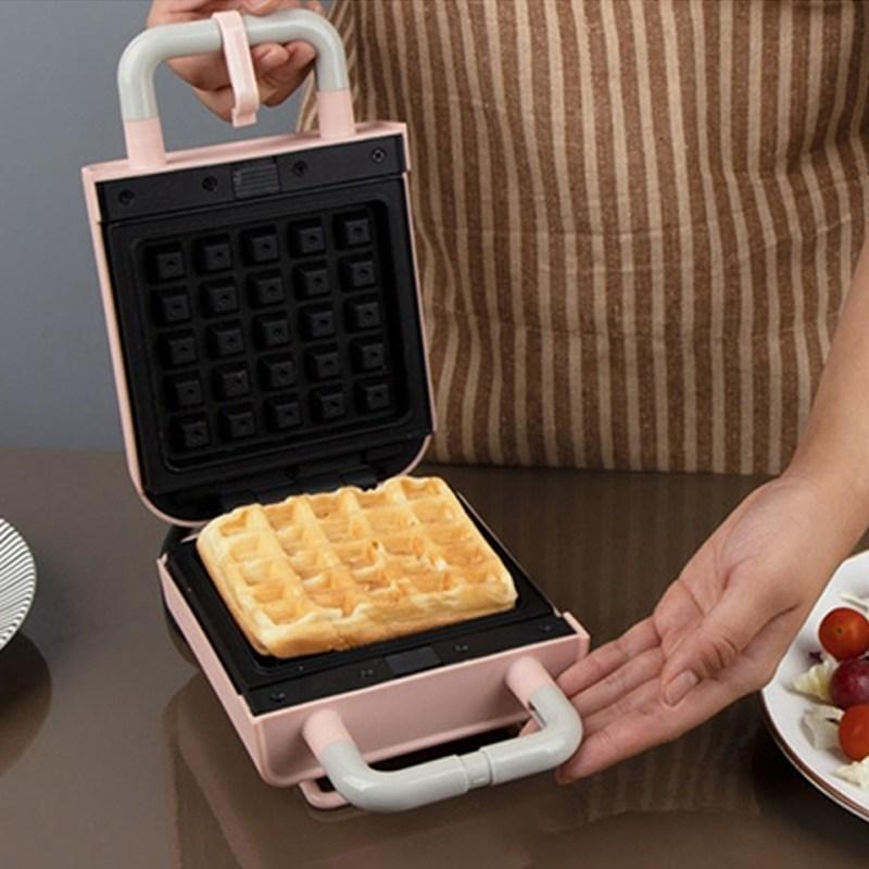 미니 파스텔 와플 기계 토스트 와플 메이커 샌드위치 간식 와플 팬 홈 카페 베이킹, 단일상품