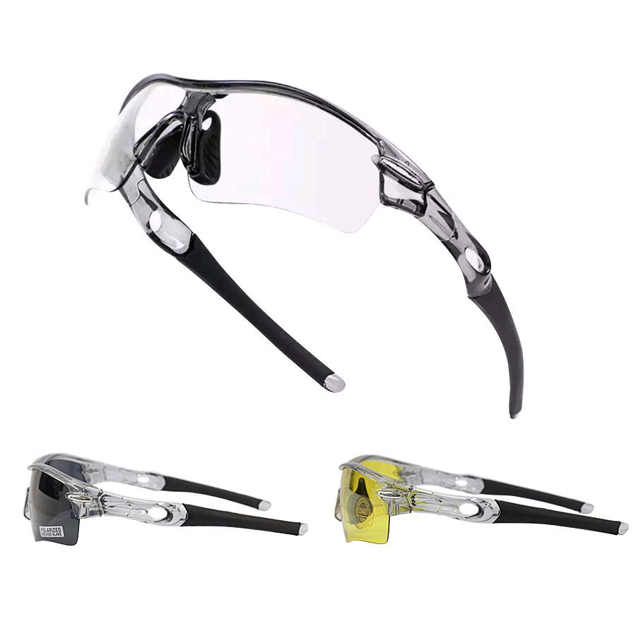 렌즈교체형 스포츠 자전거고글 변색 골프 낚시 편광 방풍 라이딩 고글 선글라스 남성 여성