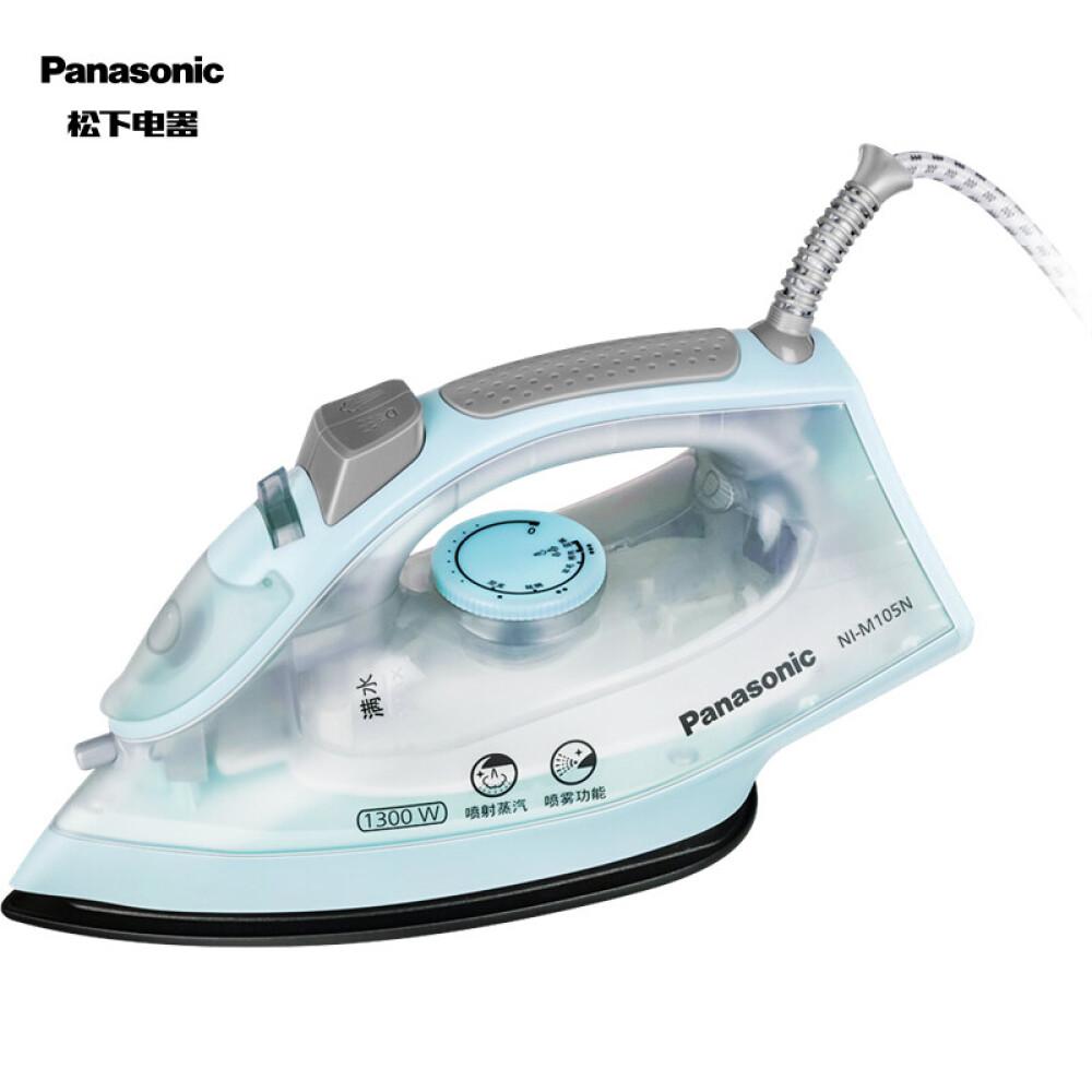 파 나 소 닉 (Panasonic) 다리미 가정용 손 에 스팀 고데 기 1300 W 멀 티 플 렉 스 Ni - M105 N헤 젤 블 루
